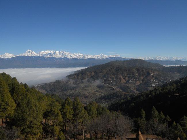 Kausani Hill and Mountains