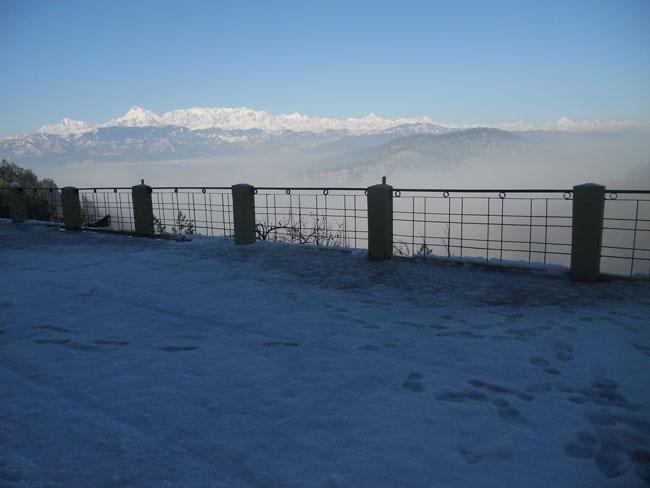 Snow Fall in Kausani